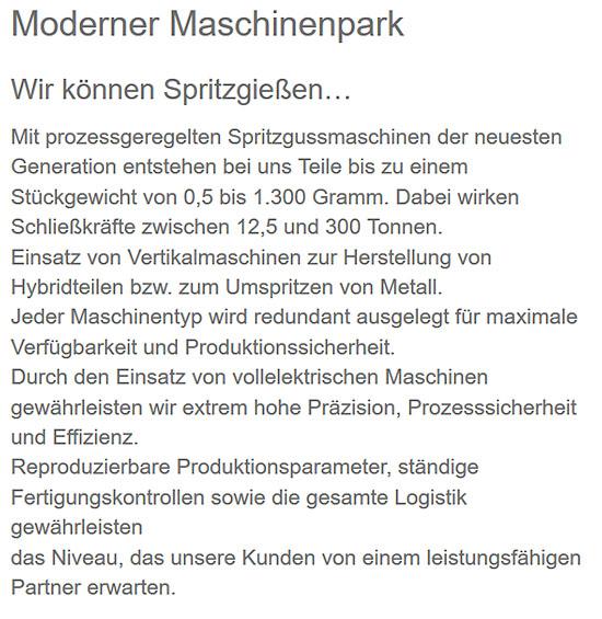 Kunststoffteile für Maschinen für  Leipzig
